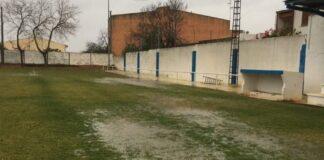 Campo anegado por lluvia