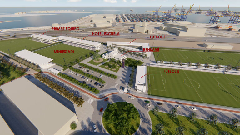 Avanzan los plazos para la construcción de la Nueva Ciudad Deportiva del Levante UD en Nazaret