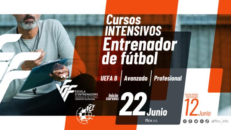 La FFCV lanza seis cursos intensivos de entrenador de fútbol y futsal