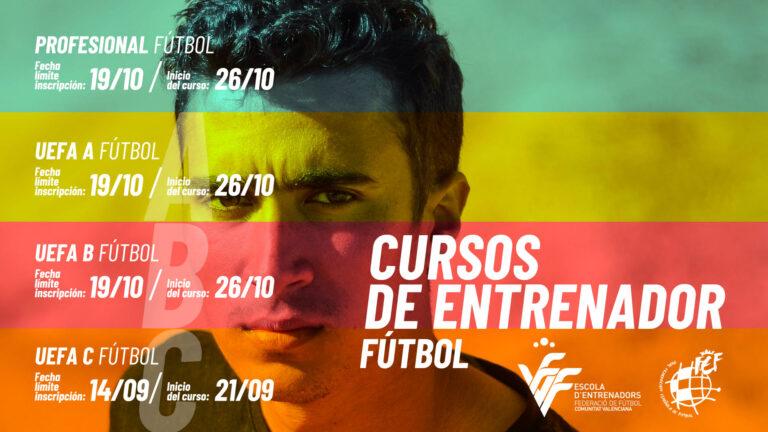 Se amplía el plazo para inscribirse a los cursos de entrenador Nacional C de futsal y UEFA C de fútbol