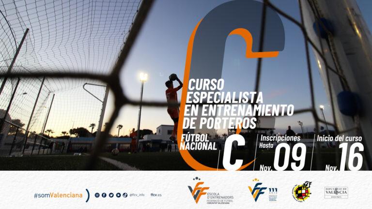Curso FFCV de Especialista en entrenamiento de porteros Nacional C de fútbol