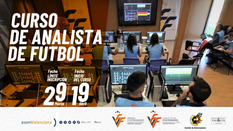 La FFCV lanza el nuevo Curso de analista de fútbol