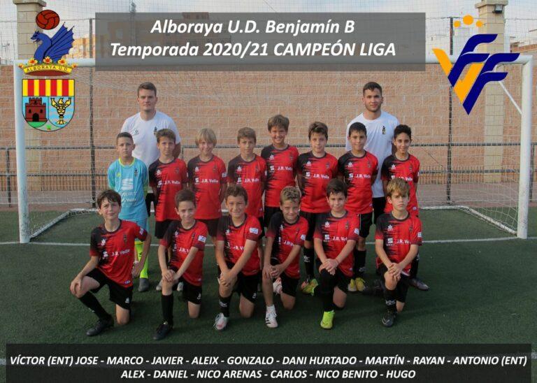 Alboraya UD B, Campeón del Grupo 1 de Benjamín 1º Año Nivel A