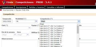 Inscripción equipos fútbol8 temporada 21/22