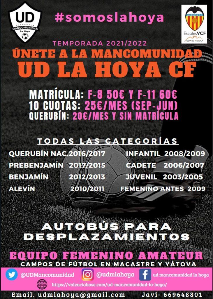 Inscripciones UDM La Hoya 21/22